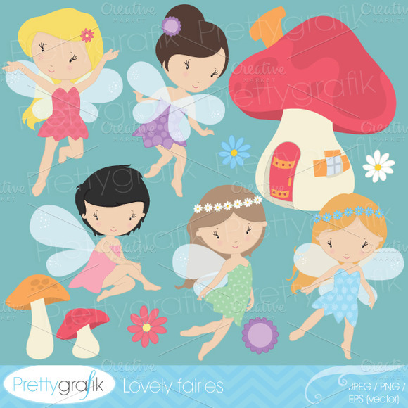 Fairy Clipart Commercial Use