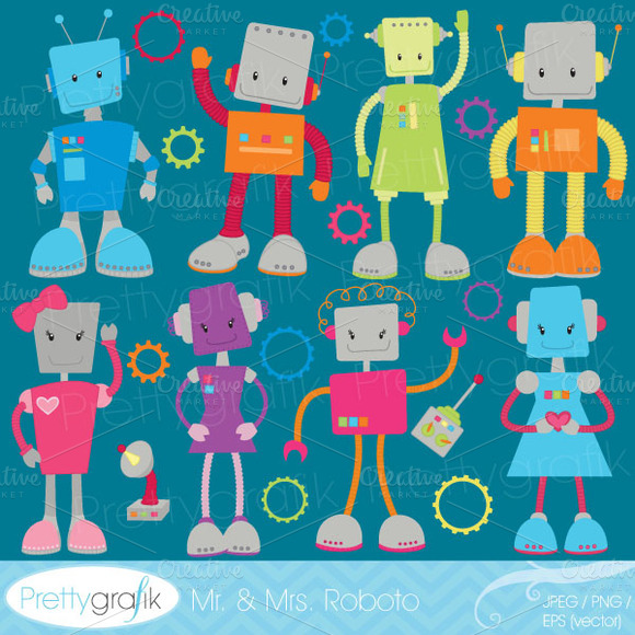 Robot Clipart Commercial Use