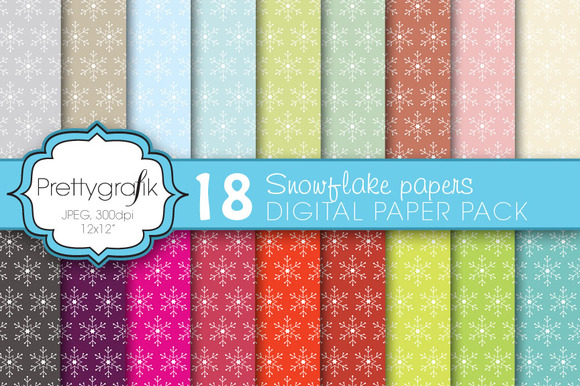 Christmas Snowflake Digital Paper