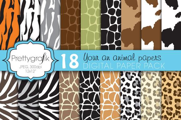 Animal Print Digital Paper