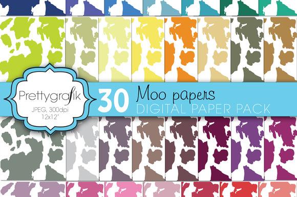 Cow Print Animal Print Digital Paper