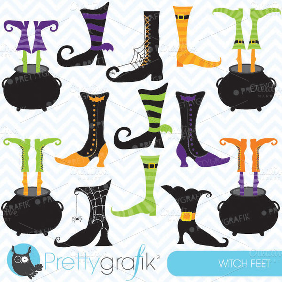 Witch Feet Clipart Commercial Use