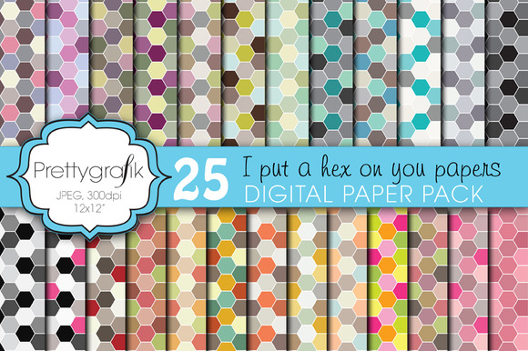 Honeycomb Hexagonal Digital Paper