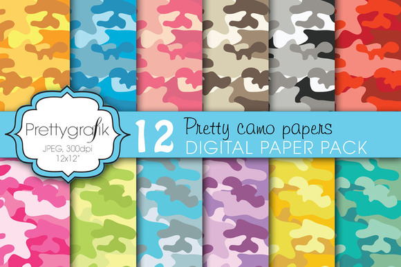 Camouflage Digital Paper Commercial