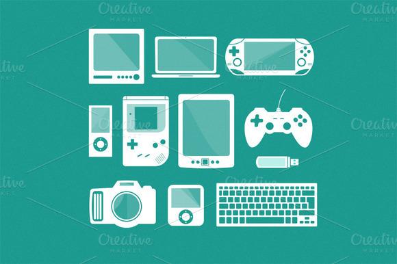Gadgets Electronics Vector Set