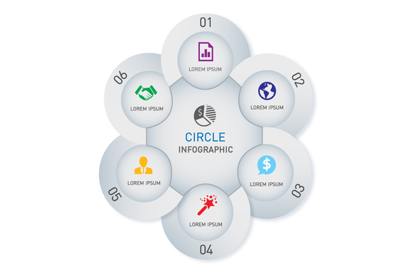 Circle Vector Info Graphic