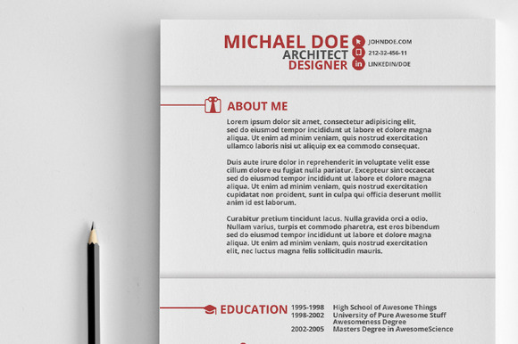 Best ideas about Resume Templates on Pinterest   Resume  Resume     Free Minimal Resume CV Template