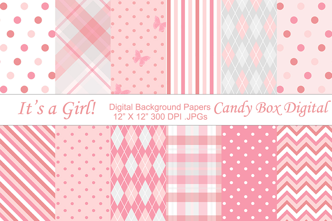 Baby Girl Clipart Borders Baby girl background papers