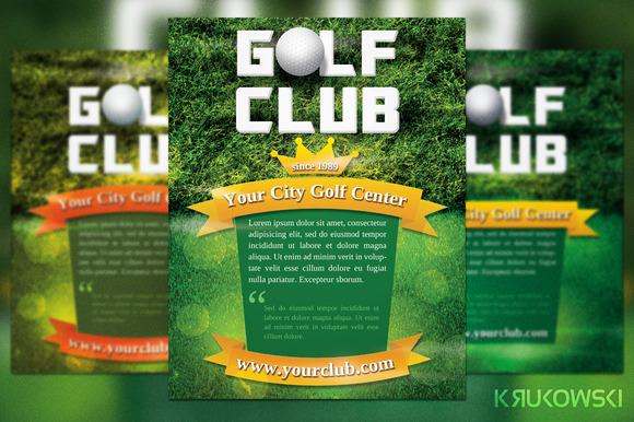 Golf Club Flyer Template