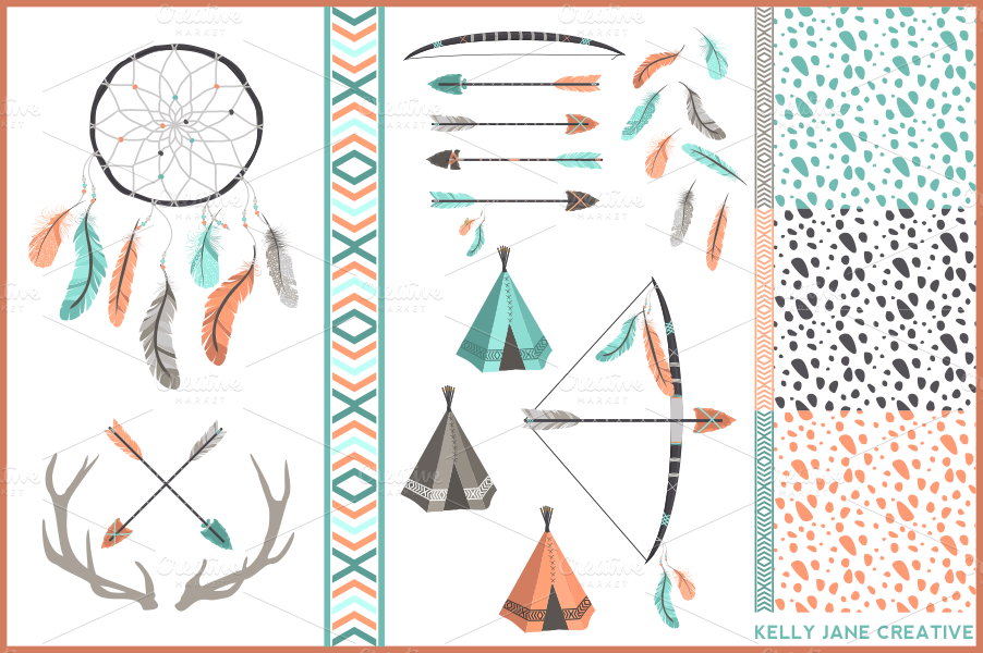 Feathered Arrow Clip Art Antlers, & arrows