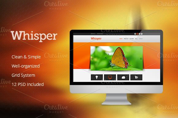 Whisper PSD Template
