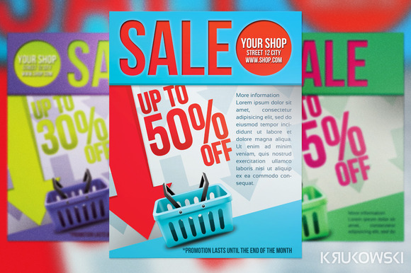 Sale Flyer Psd Sale Psd Print Template