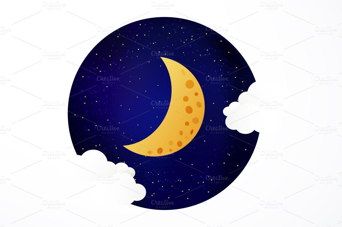 Moon Illustration Illustrations On Creative Market