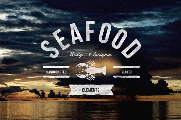 Seafood Badges Insignia