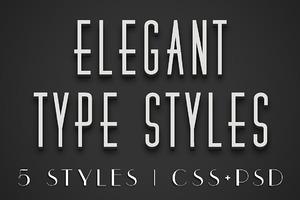 Elegant CSS Type Styles (+PSD)