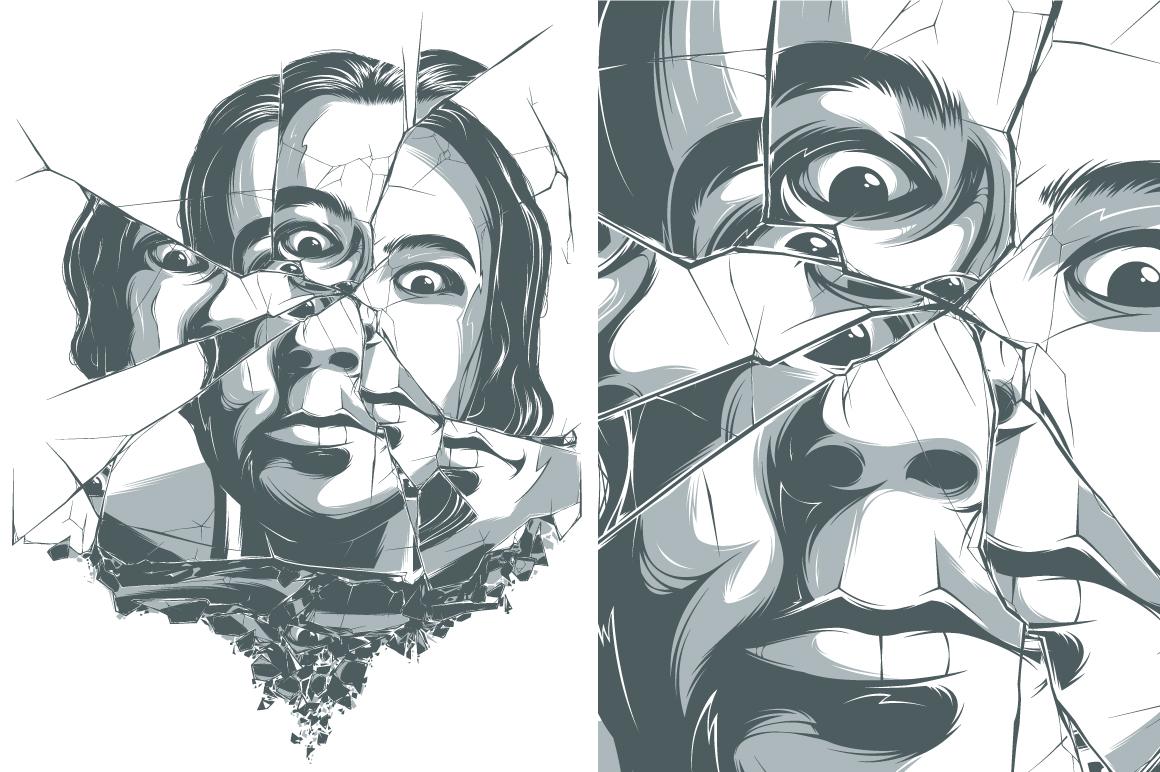 Broken Mirror ~ Illustrations on Creative Market