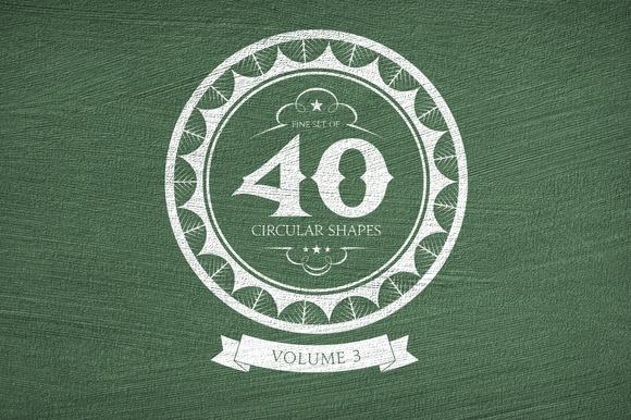 40 Circular Shapes - Vector - Vol. 3 - Objects