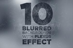 10 Blurry Backgrounds +Plexus Effect