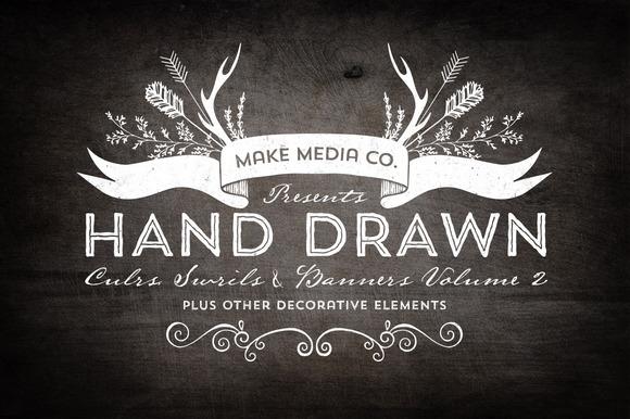 Hand Drawn Curls & Banners Vol. 2 - Illustrations