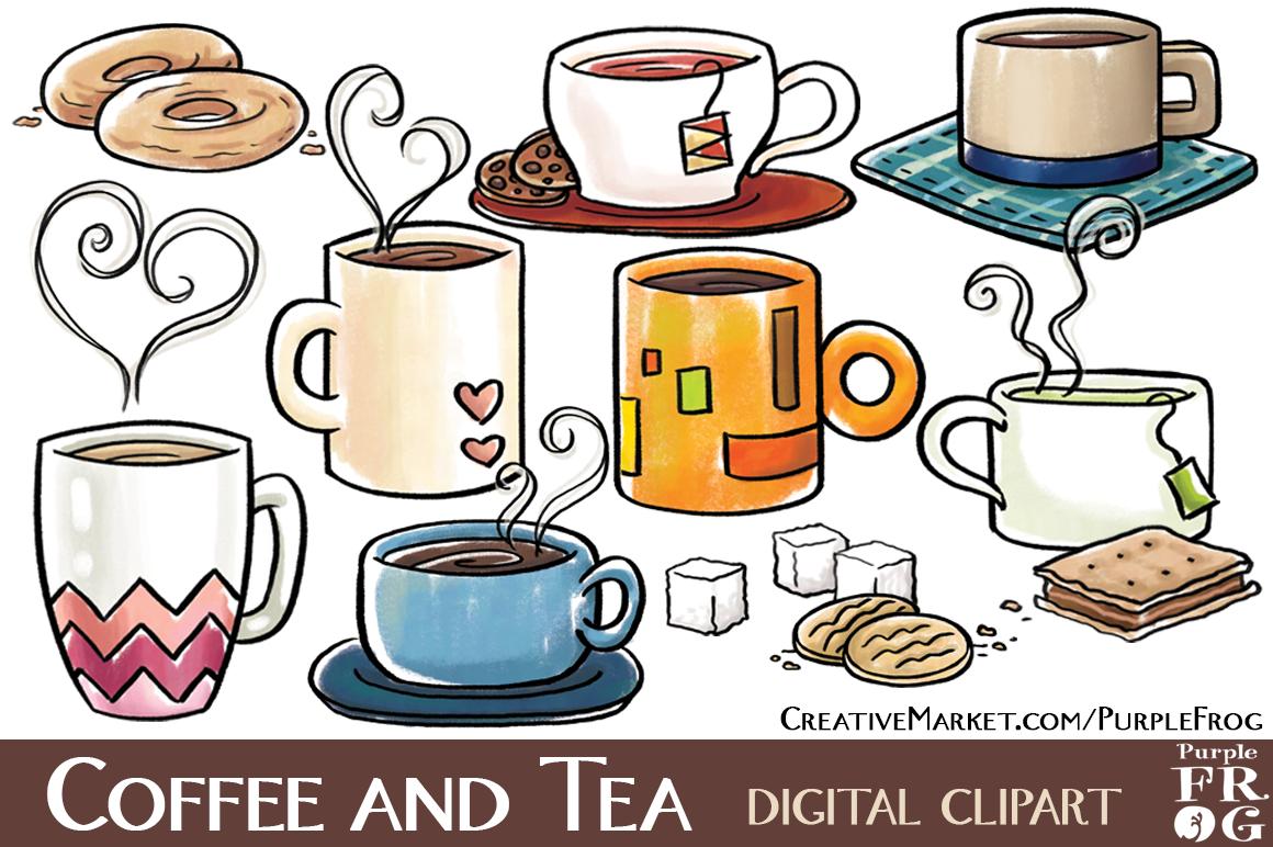 COFFEE AND TEA - Digital Clipart ~ Illustrations on ...