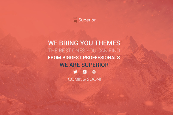Simple Cooming Soon PSD Template