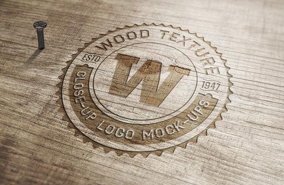 5 Close-Up Logo Mock-ups V.2 - Product Mockups