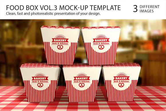Food Box Vol.3 Mock-up Template - Product Mockups