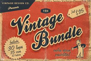30 Vintage Logos Bundle