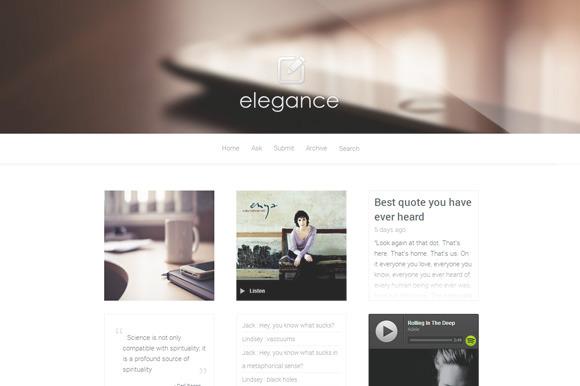 Elegance Portfolio Tumblr Theme