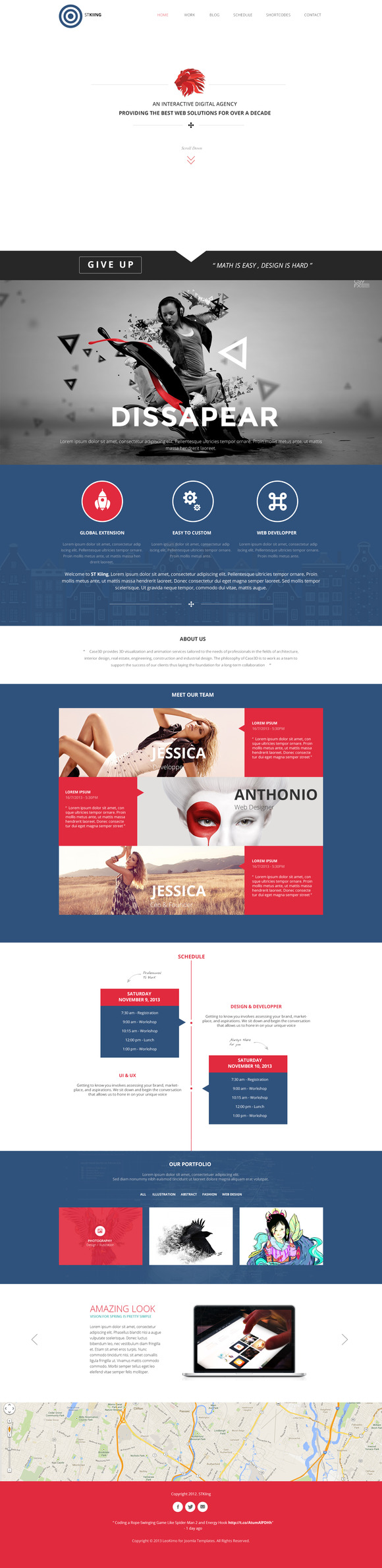 Kiing One Page PSD Template