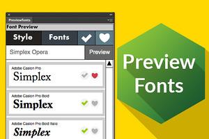 Preview Fonts Cs 6