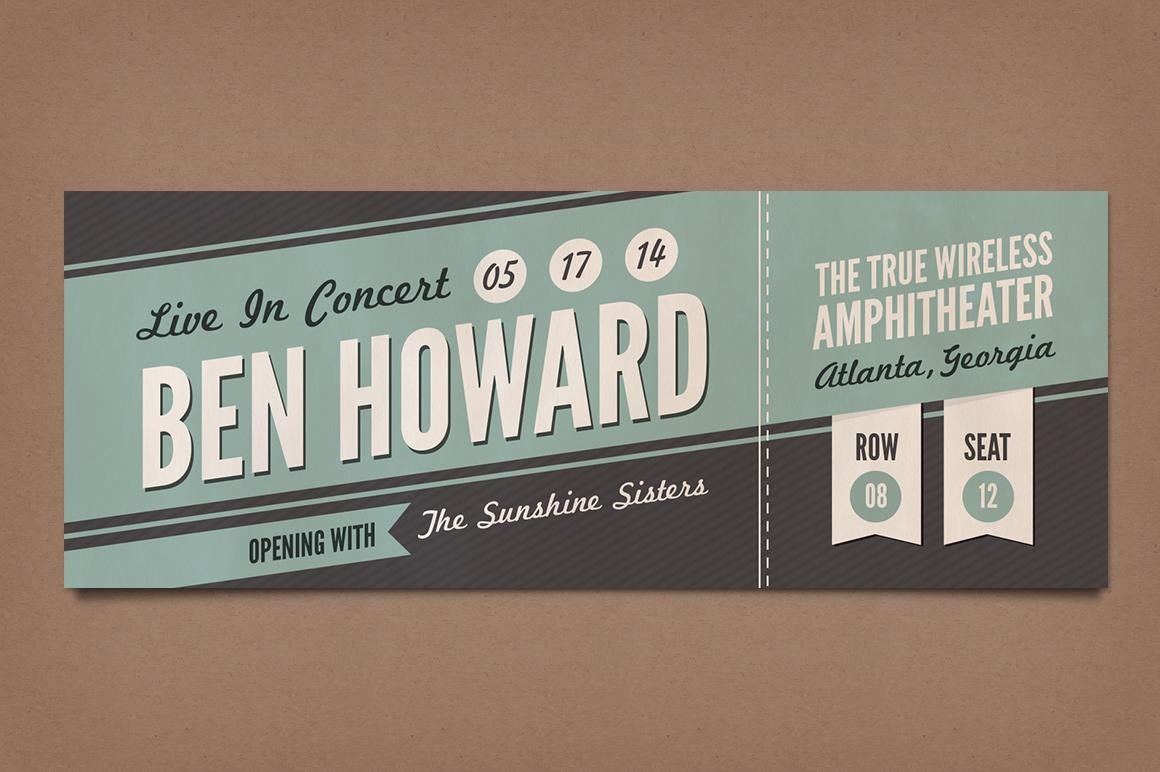 Retro Concert Tickets ~ Stationery Templates on Creative Market