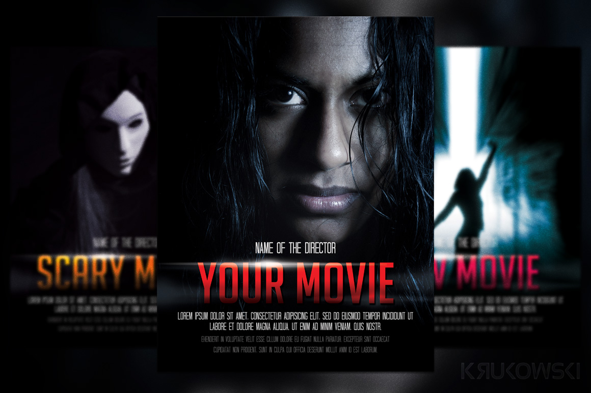 Movie Poster Flyer Template ~ Flyer Templates on Creative Market
