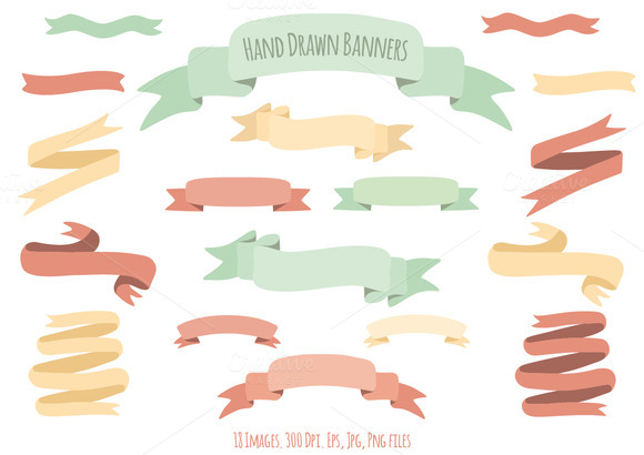 Hand Drawn Tumblr Banner Hand Drawn Color Banners
