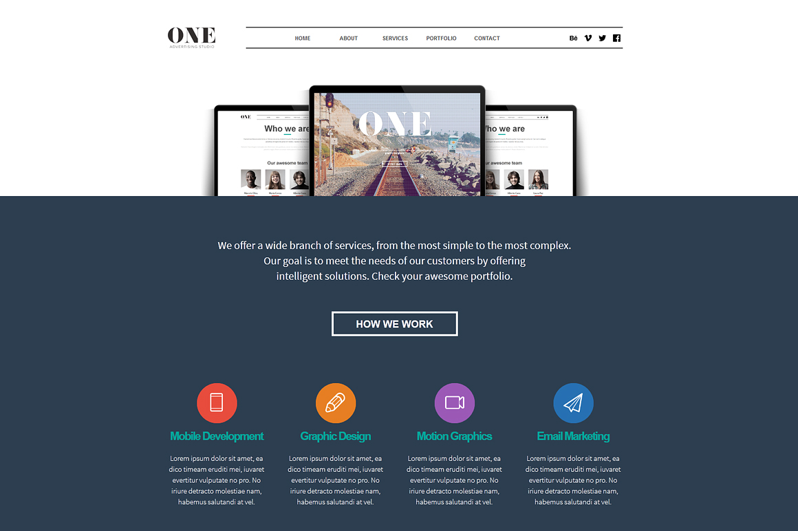 One adobe muse theme website templates on creative market for Adobe muse templates free