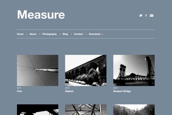 Measure Responsive WordPress Theme