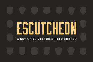 Escutcheon – Vector Shield Shapes