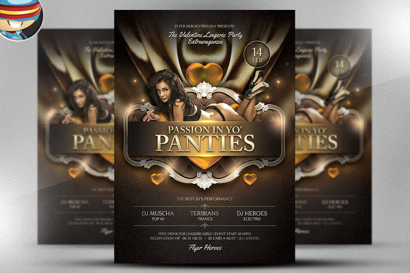 Passion in Yo Panties Valentines PSD - Flyers - 1