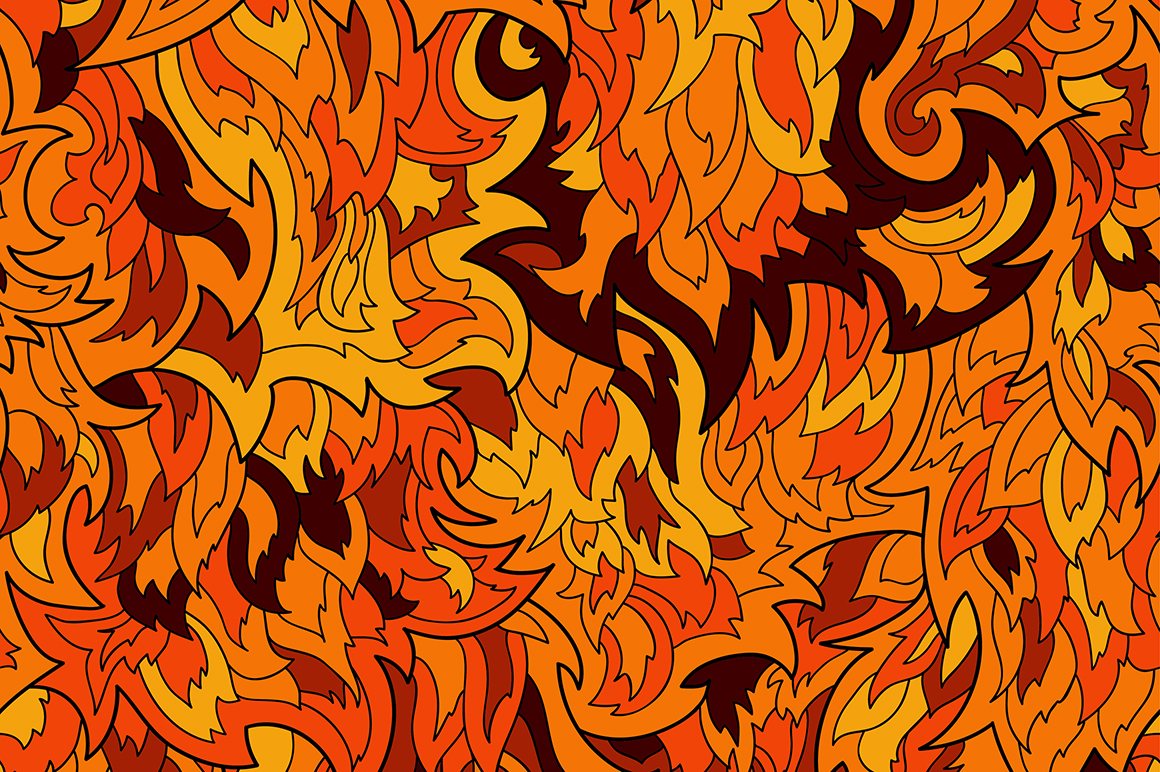 Seamless Fur Or Flame Pattern Patterns On Creative Market