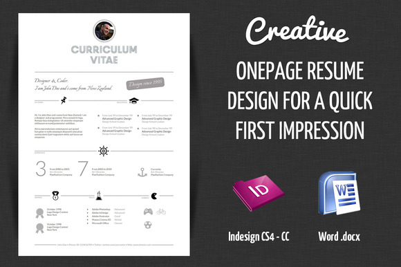 79 Excellent Free Creative Resume Templates Word Template. 85