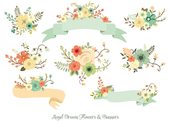 Hand Drawn Tumblr Banner Hand Drawn Flowers Amp Banners