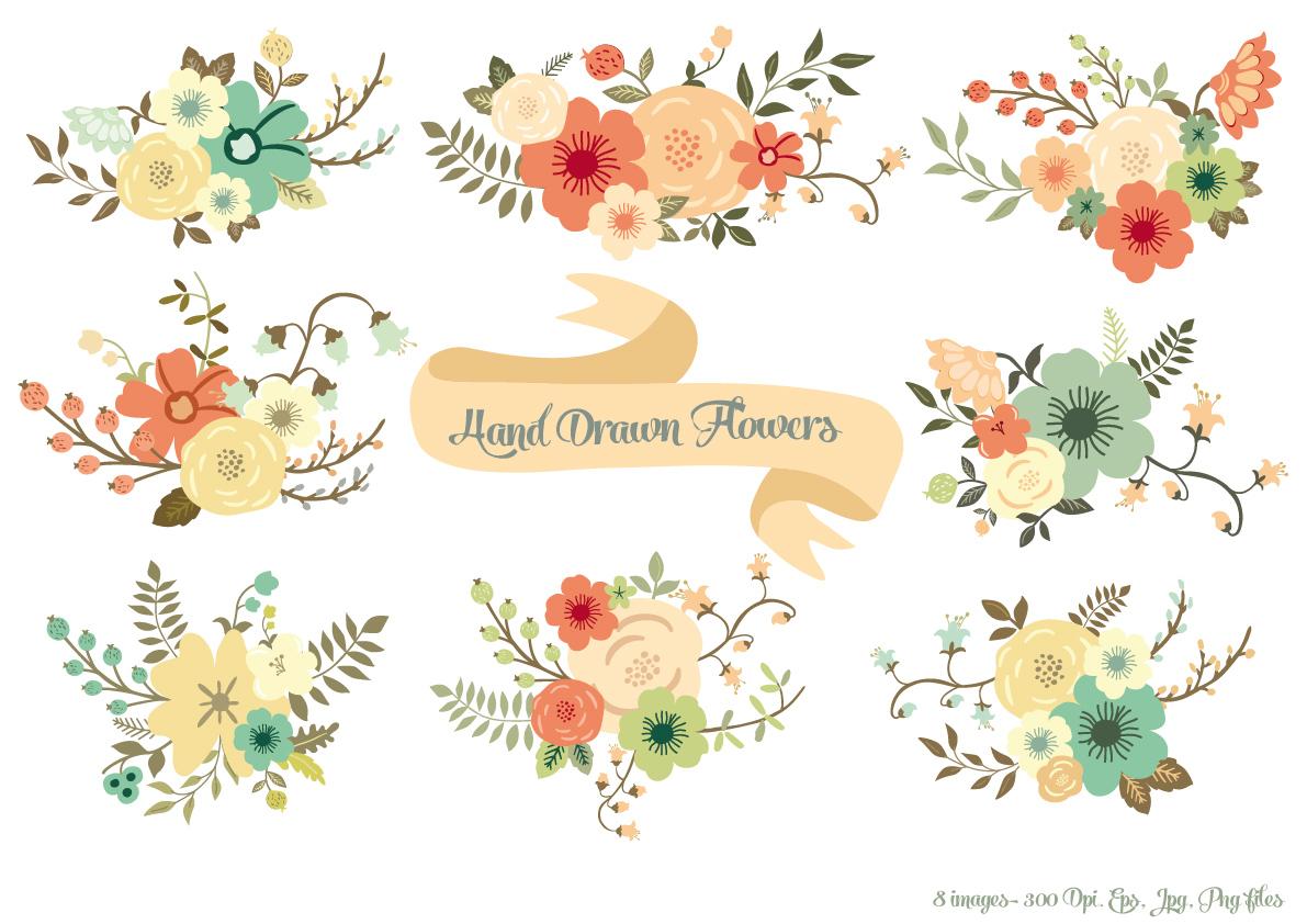 Hand Drawn Flowers ~ Illustrations on Creative Market