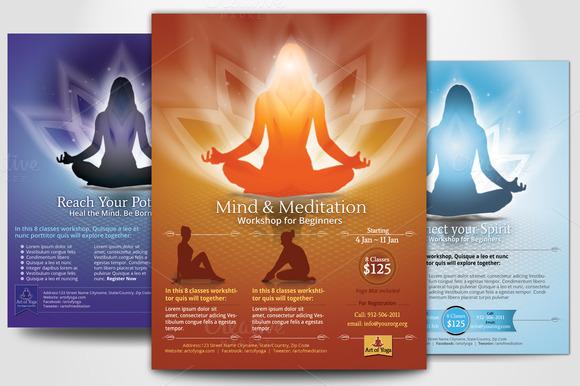 Meditation Flyer Simple Yoga Meditation Flyers