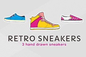 Retro sneaker illustrations