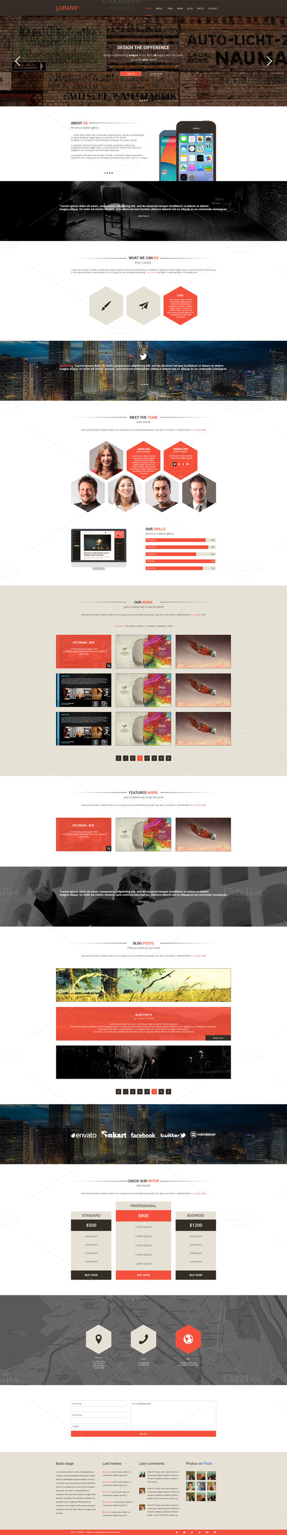 Lorans One Page PSD Theme