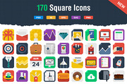 170 Awesome Flat Icons-Graphicriver中文最全的素材分享平台