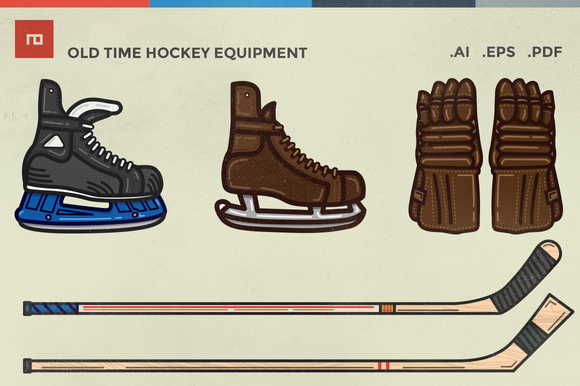 Old Time Hockey Equipment