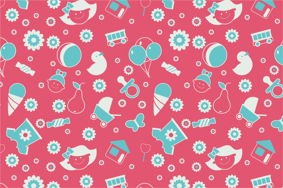 Baby Patterns : Seamless baby pattern ~ Patterns on Creative Market