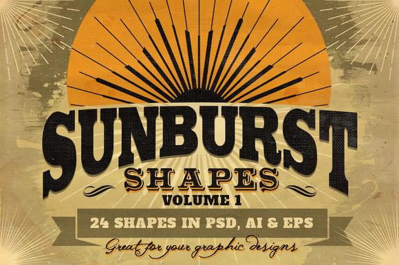 Sunbursts Shapes Vol.1 - Objects