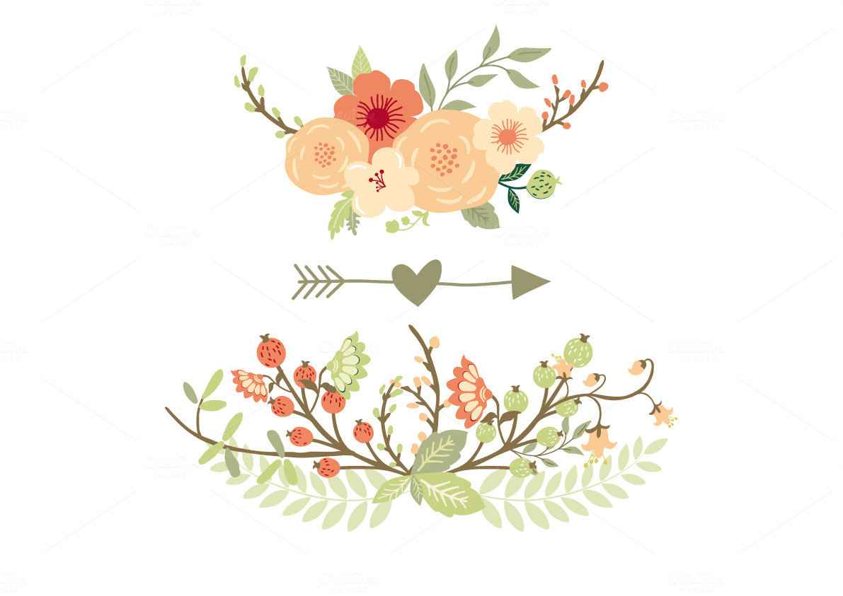Natural Floral Wreaths II Illustrations On Creative Market